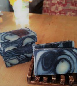 Charcoal Swirl Bar Soap